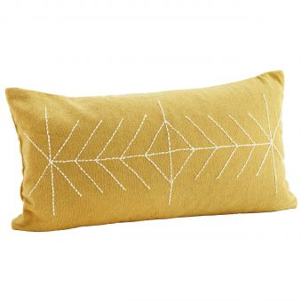 Madam Stoltz Kissen Embroidery senf